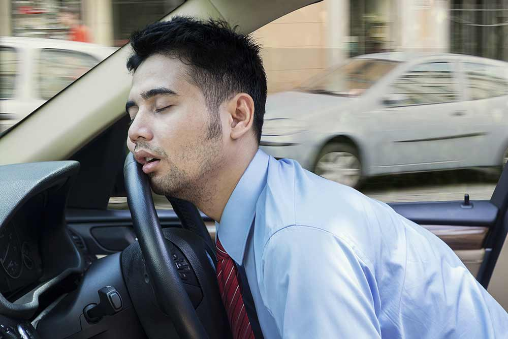 Sleeping at the wheel, tired, massage, massage therapy